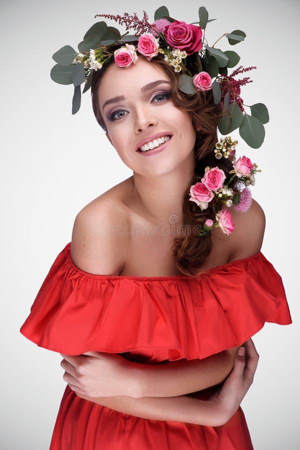 Ρομαντικό κορίτσι νυφών ομορφιάς στοκ φωτογραφία με δικαίωμα ελεύθερης χρήσης