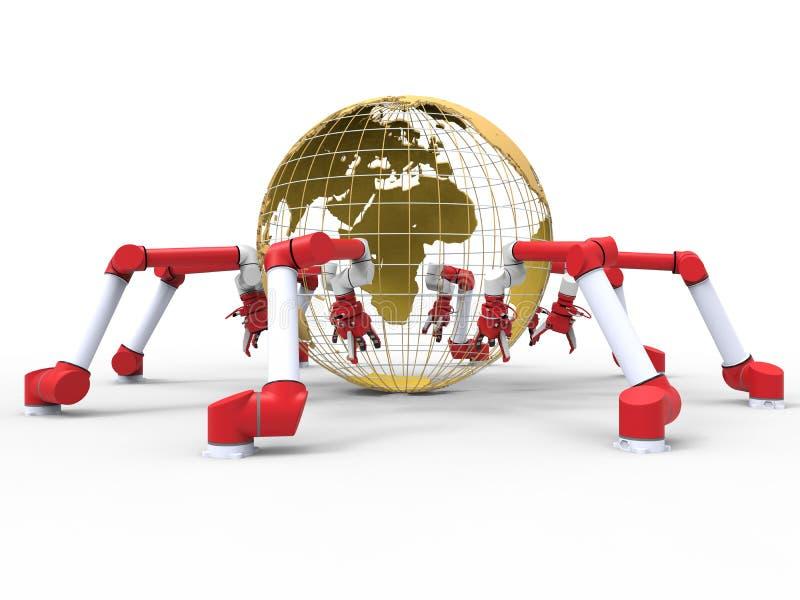 Ρομποτικά όπλα - γήινη σφαίρα απεικόνιση αποθεμάτων