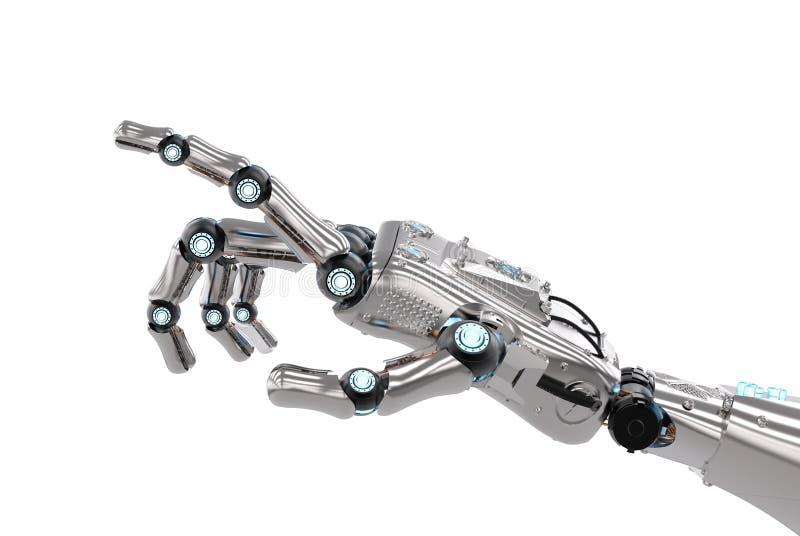 Ρομποτική υπόδειξη χεριών στοκ εικόνα