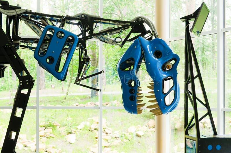 Ρομποτικός πρότυπος τυραννόσαυρος rex στο πάρκο δεινοσαύρων στοκ εικόνες με δικαίωμα ελεύθερης χρήσης