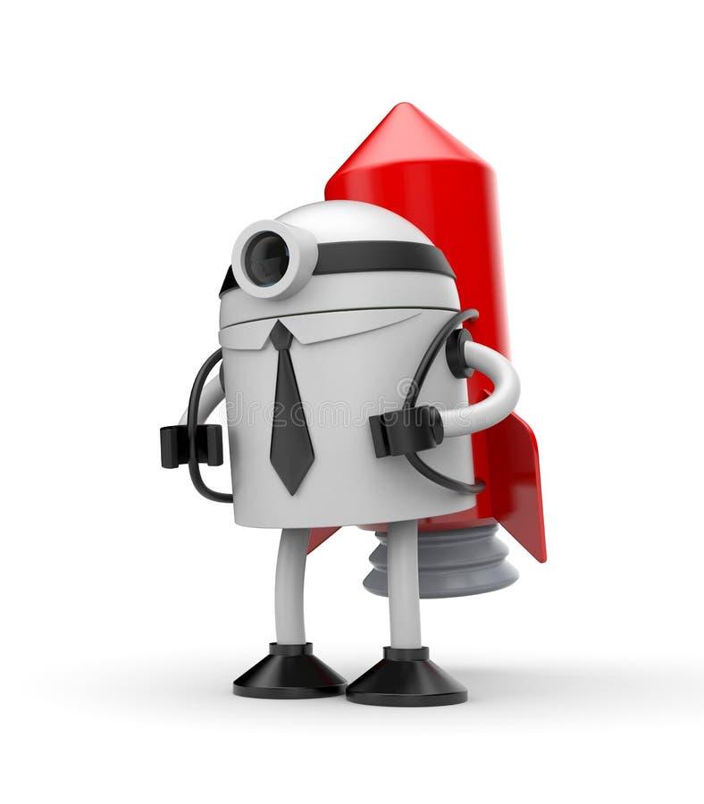 Ρομπότ έτοιμο να αρχίσει ελεύθερη απεικόνιση δικαιώματος