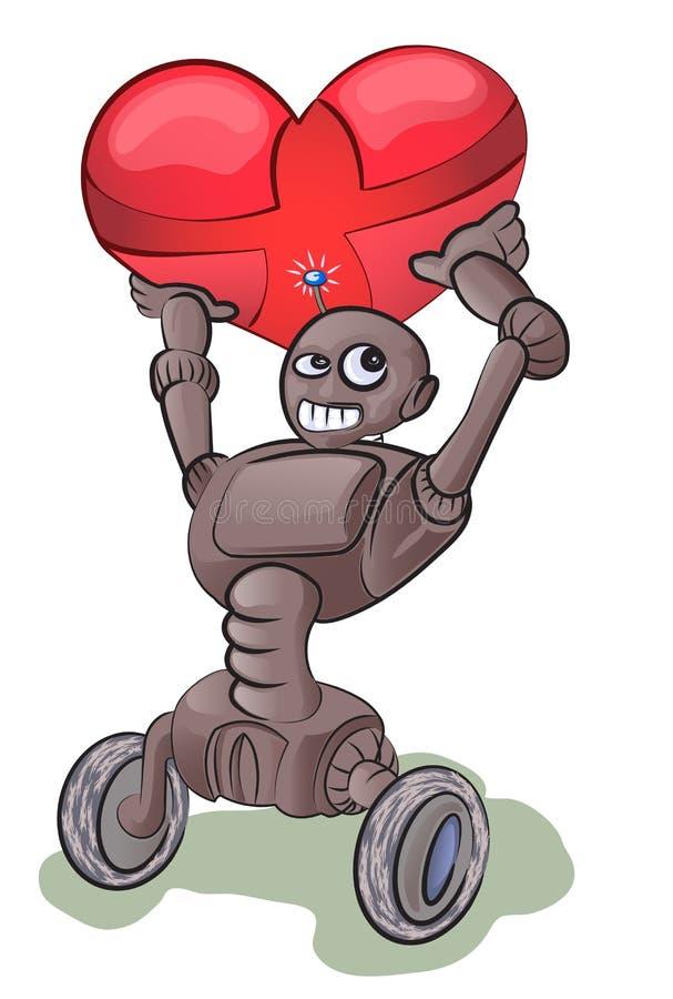 ρομπότ αγάπης φυσαλίδων ελεύθερη απεικόνιση δικαιώματος
