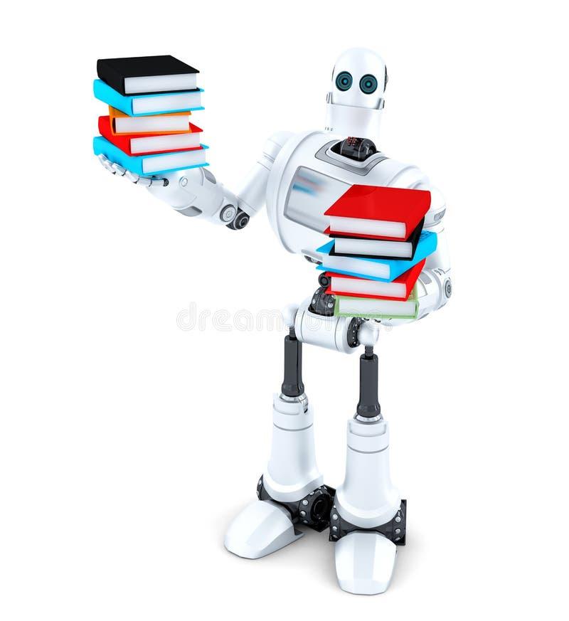 ρομπότ βιβλίων Περιέχει το μονοπάτι ψαλιδίσματος ελεύθερη απεικόνιση δικαιώματος