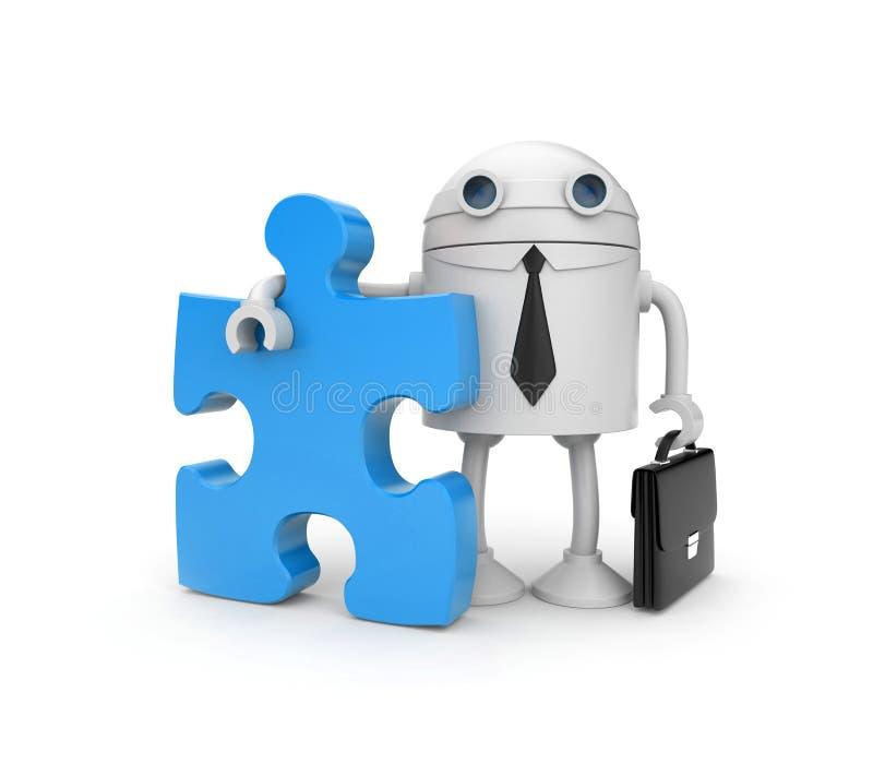 ρομπότ γρίφων επιχειρηματι απεικόνιση αποθεμάτων