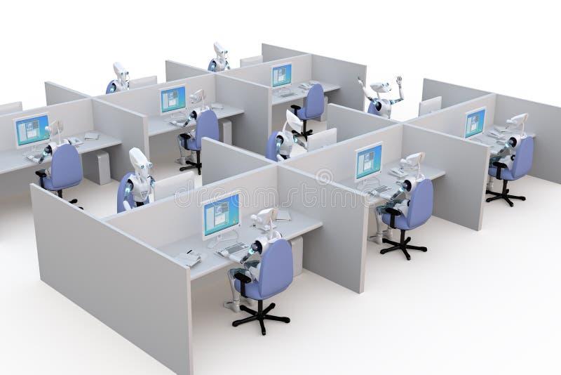 Ρομπότ γραφείων απεικόνιση αποθεμάτων