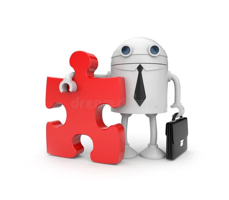 ρομπότ επιχειρηματιών απεικόνιση αποθεμάτων