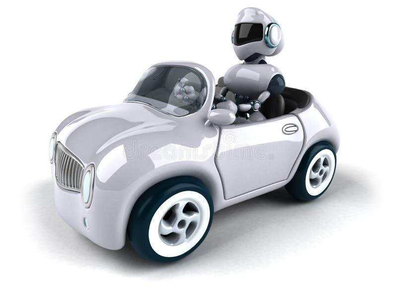 Ρομπότ και αυτοκίνητο ελεύθερη απεικόνιση δικαιώματος