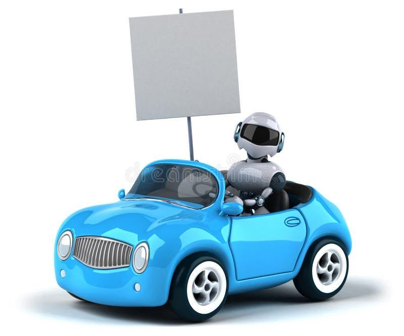 Ρομπότ και αυτοκίνητο απεικόνιση αποθεμάτων