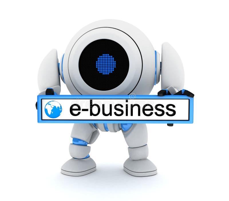 Ρομπότ και ε-bussiness διανυσματική απεικόνιση