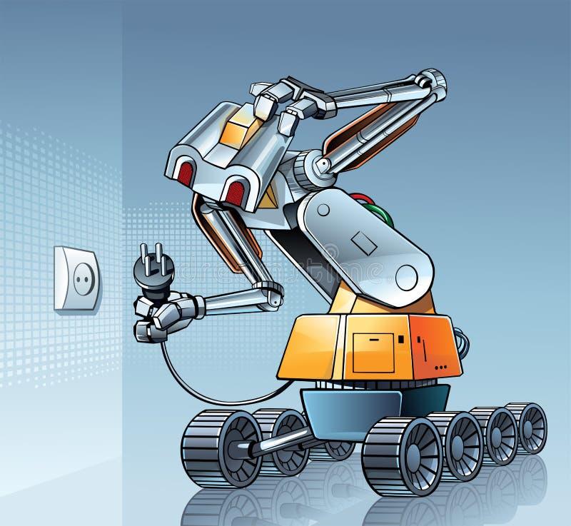 Ρομπότ και σύνδεση ασυμβιβάστου ελεύθερη απεικόνιση δικαιώματος