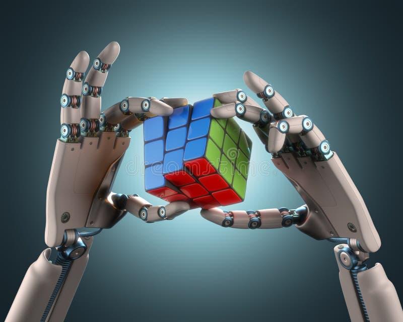 Ρομπότ κύβων ελεύθερη απεικόνιση δικαιώματος