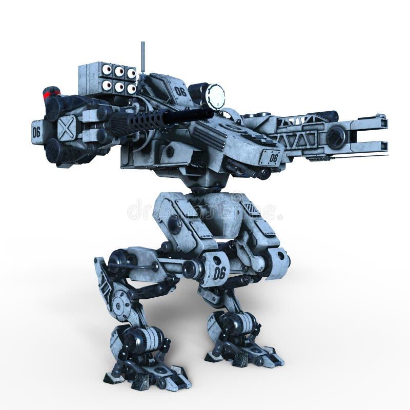 Ρομπότ μάχης διανυσματική απεικόνιση
