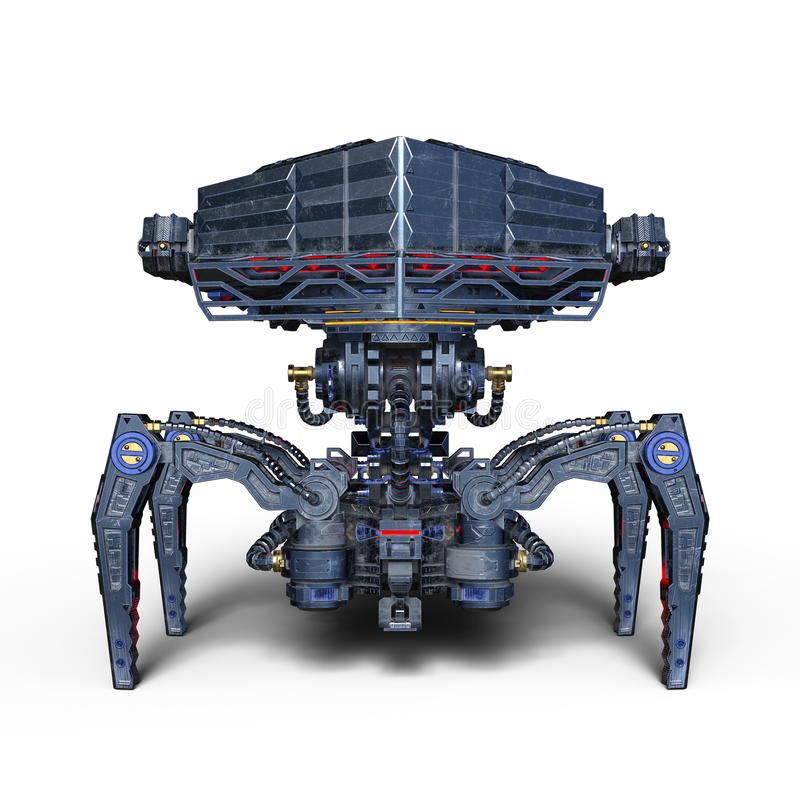 Ρομπότ μάχης ελεύθερη απεικόνιση δικαιώματος