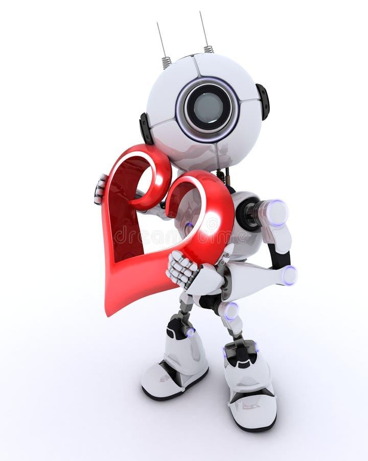 Ρομπότ με την καρδιά ελεύθερη απεικόνιση δικαιώματος