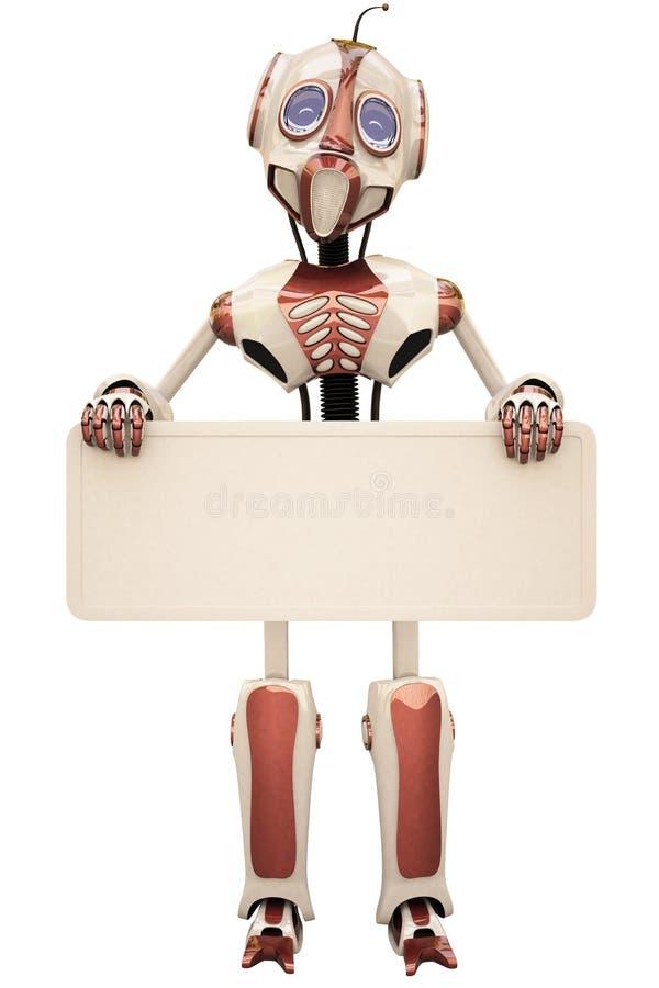 Download ρομπότ πινάκων διαφημίσεων απεικόνιση αποθεμάτων. εικονογραφία από έννοια - 13185150