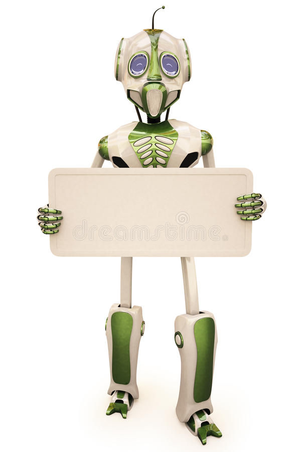 Download ρομπότ πινάκων διαφημίσεων απεικόνιση αποθεμάτων. εικονογραφία από στοιχείο - 13188001