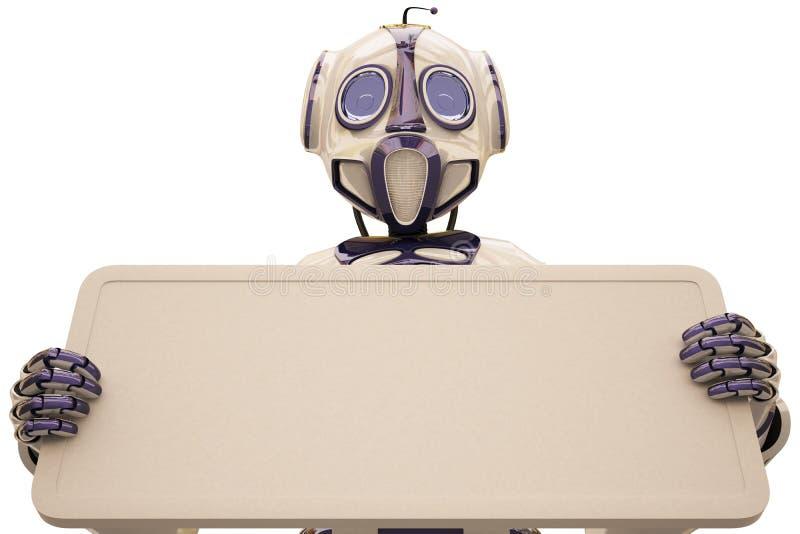 Download ρομπότ πινάκων διαφημίσεων απεικόνιση αποθεμάτων. εικονογραφία από χέρι - 13190221