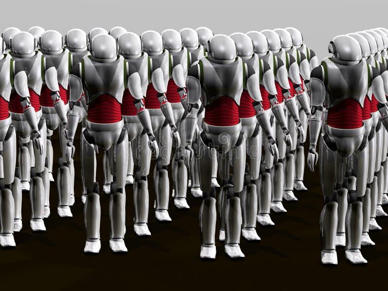 ρομπότ στρατού απεικόνιση αποθεμάτων