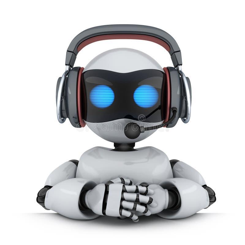 Ρομπότ τεχνικής υποστήριξης διανυσματική απεικόνιση