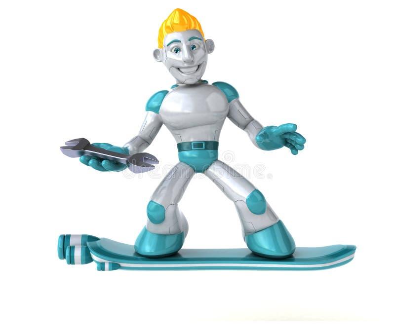 Ρομπότ - τρισδιάστατη απεικόνιση ελεύθερη απεικόνιση δικαιώματος