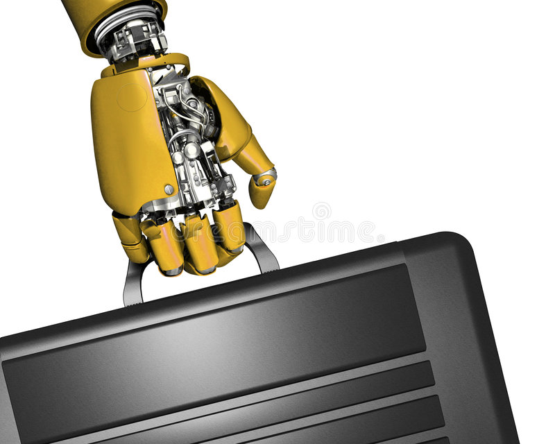 ρομπότ χεριών χαρτοφυλάκω&n απεικόνιση αποθεμάτων