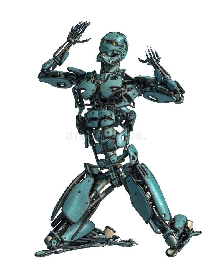 Ρομπότ Cyborg σε μια αποστολή απεικόνιση αποθεμάτων