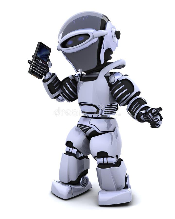 ρομπότ phoine έξυπνο διανυσματική απεικόνιση