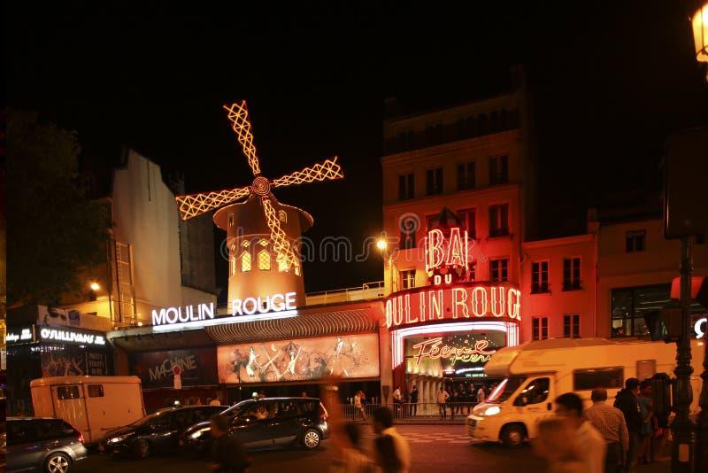 Ρουζ Moulin, Παρίσι στοκ εικόνα