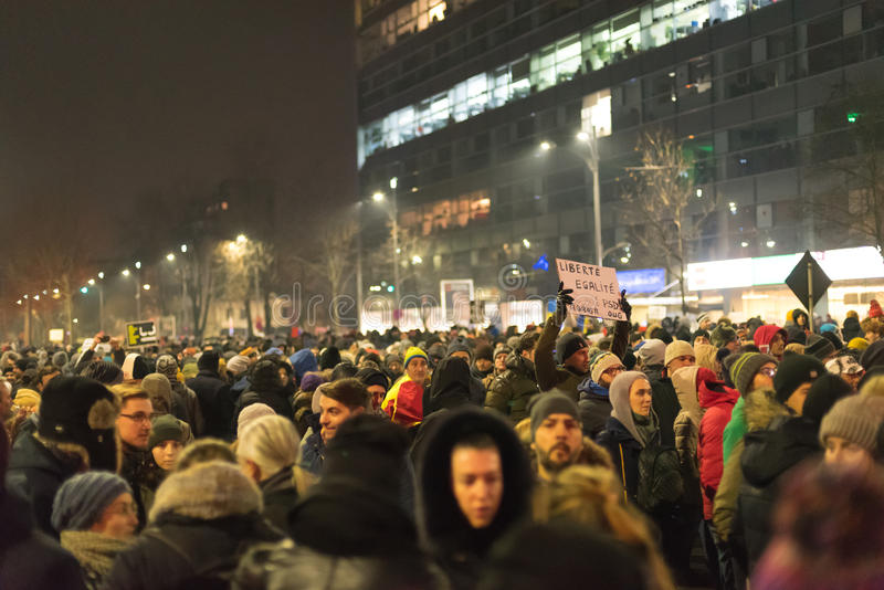 Ρουμάνοι διαμαρτύρονται στην πλατεία Βικτώριας στοκ εικόνες με δικαίωμα ελεύθερης χρήσης