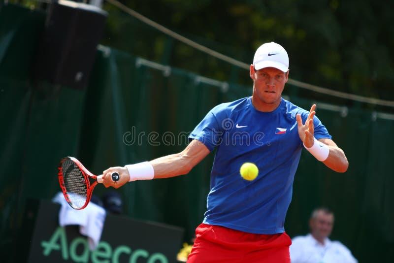Ρουμανία-τσεχική Δημοκρατία, Davis Cup 2011 στοκ εικόνα
