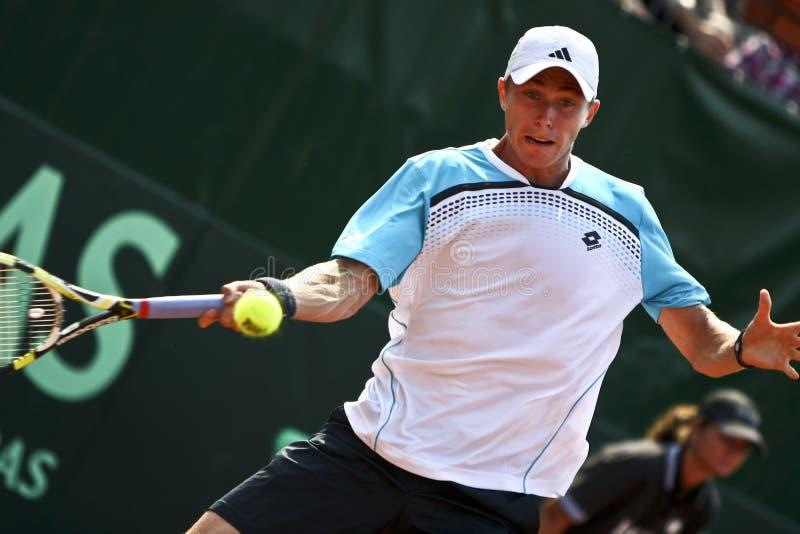 Ρουμανία-τσεχική Δημοκρατία, Davis Cup 2011 στοκ εικόνα με δικαίωμα ελεύθερης χρήσης