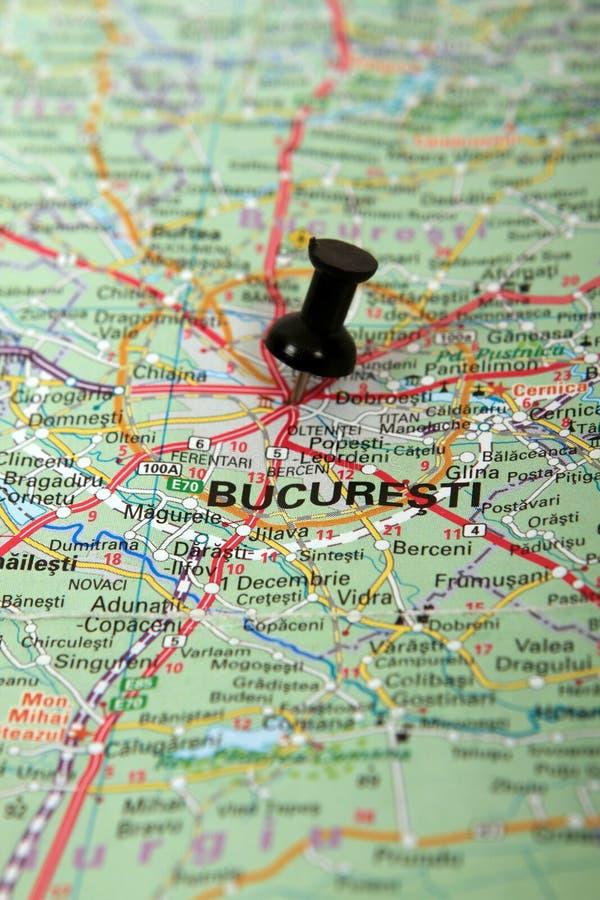Ρουμανία: Χάρτης του Βουκουρεστι'ου στοκ εικόνες με δικαίωμα ελεύθερης χρήσης