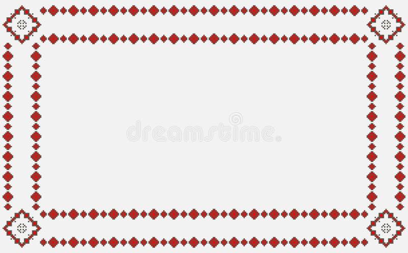 Ρουμανικά παραδοσιακά σχέδια διανυσματική απεικόνιση