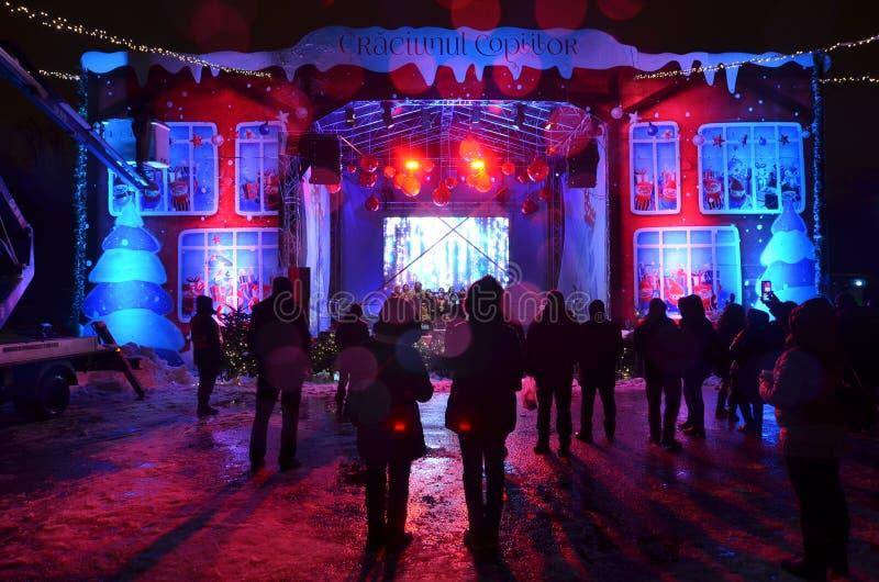 Ρουμανική απόδοση τραγουδιών κάλαντων Χριστουγέννων στοκ εικόνες με δικαίωμα ελεύθερης χρήσης