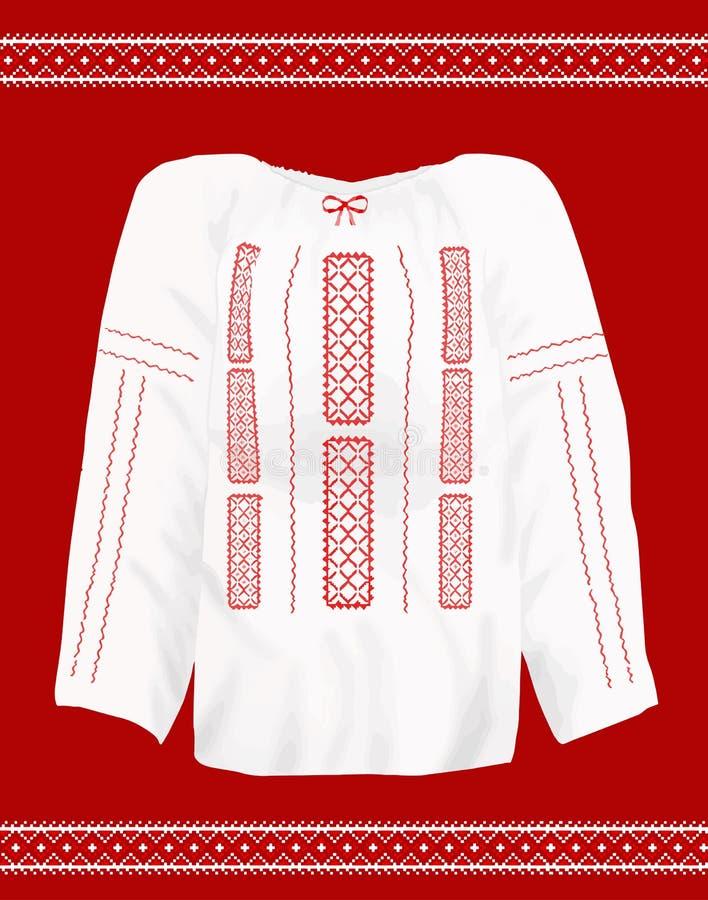 Ρουμανική παραδοσιακή μπλούζα απεικόνιση αποθεμάτων