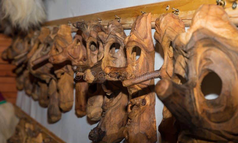 Ρουμανική παραδοσιακή ξύλινη μάσκα στοκ φωτογραφία με δικαίωμα ελεύθερης χρήσης