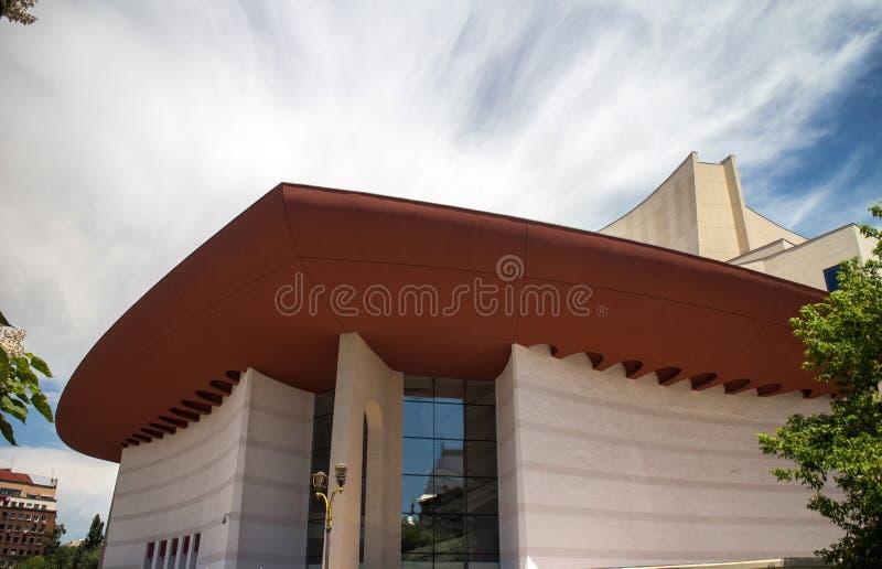 Ρουμανικό εθνικό θέατρο στο Βουκουρέστι (TNB) στοκ εικόνα
