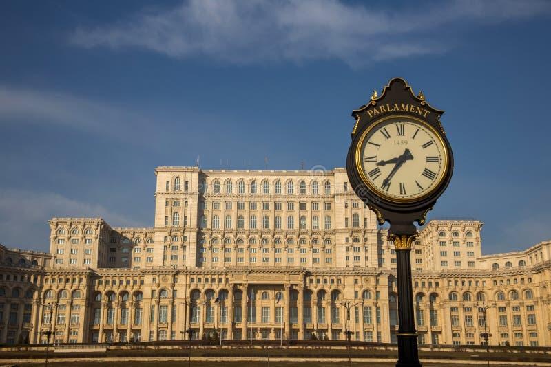 Ρουμανικό κτήριο του Κοινοβουλίου, Βουκουρέστι στοκ εικόνες