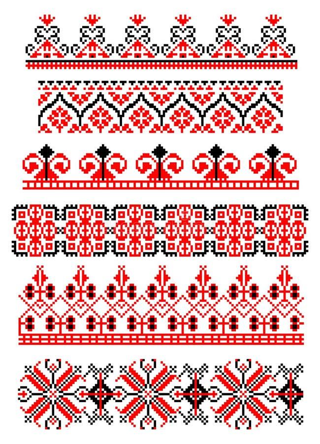 Ρουμανικό παραδοσιακό θέμα διανυσματική απεικόνιση
