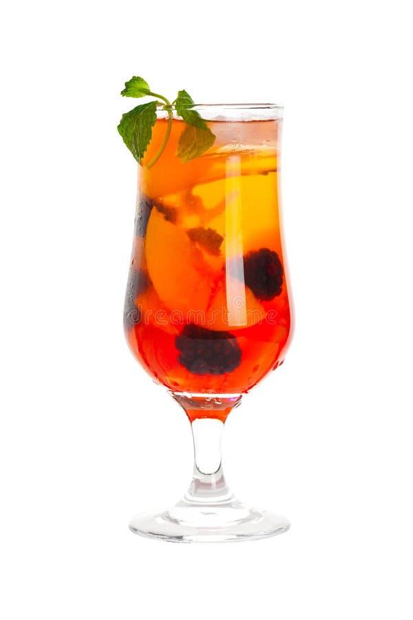 Ροδάκινο και ποτό του Blackberry στοκ φωτογραφίες