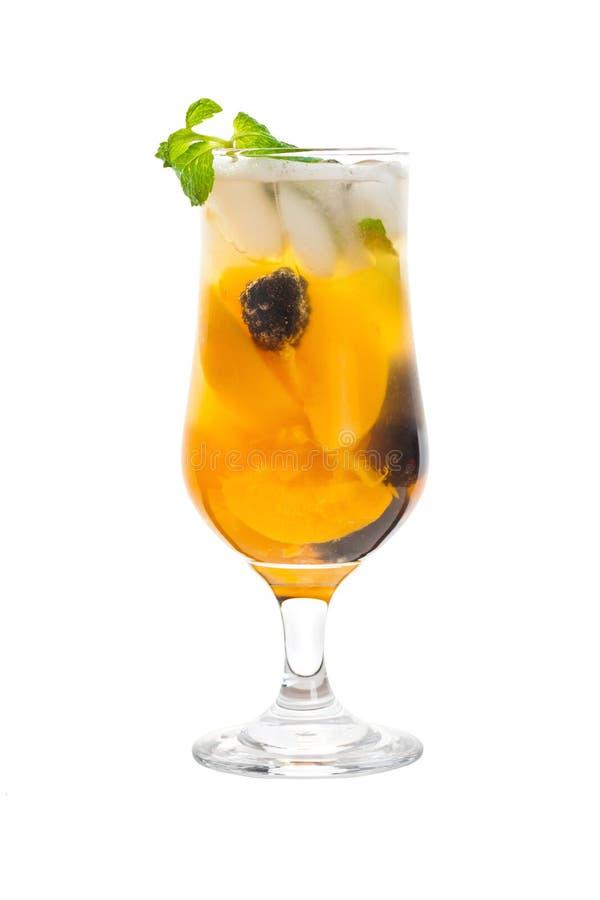 Ροδάκινο και ποτό του Blackberry στοκ φωτογραφίες με δικαίωμα ελεύθερης χρήσης