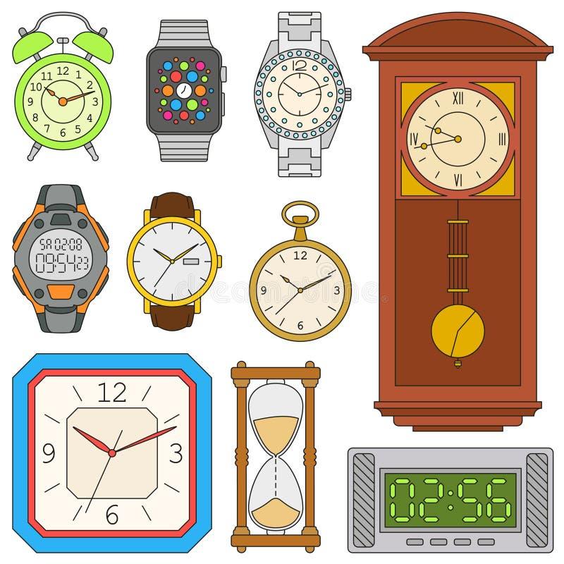 Ρολόγια καθορισμένα απεικόνιση αποθεμάτων