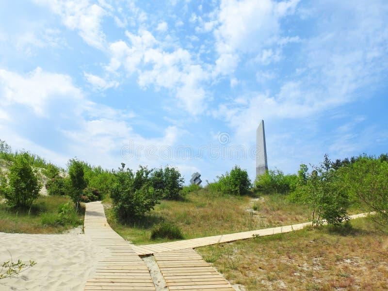 Ρολόι ήλιων σε Neringa, Λιθουανία στοκ εικόνες