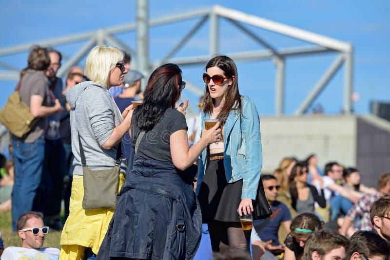 Ρολόι ακροατηρίων μια συναυλία στο υγιές 2014 φεστιβάλ της Heineken Primavera στοκ φωτογραφία με δικαίωμα ελεύθερης χρήσης