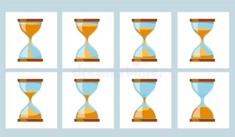 Ρολόι γυαλιού άμμου ζωτικότητας διανυσματική απεικόνιση