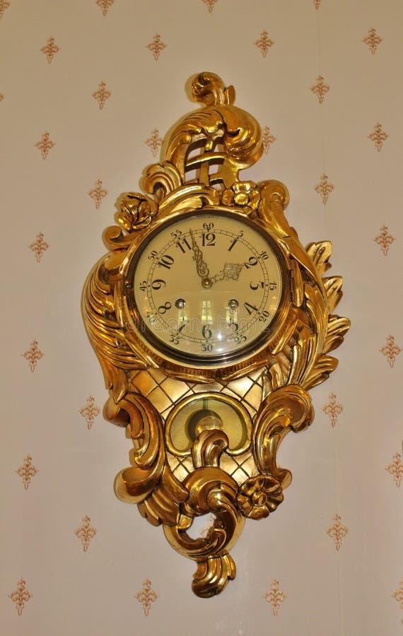 Ρολόι εκκρεμών στο μέγαρο χρήσης Melderstein στοκ εικόνα