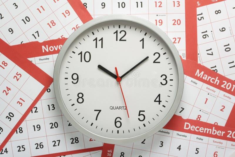 Ρολόι και ημερολόγια στοκ εικόνες