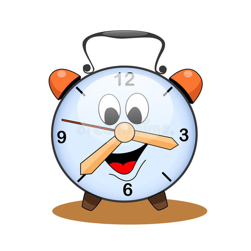 Ρολόι κινούμενων σχεδίων διανυσματική απεικόνιση