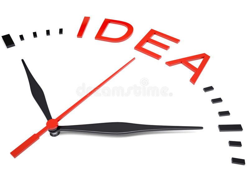 Ρολόι με την ιδέα λέξης ελεύθερη απεικόνιση δικαιώματος