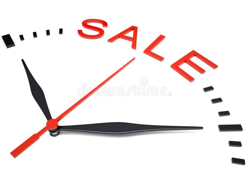 Ρολόι με την πώληση λέξης ελεύθερη απεικόνιση δικαιώματος